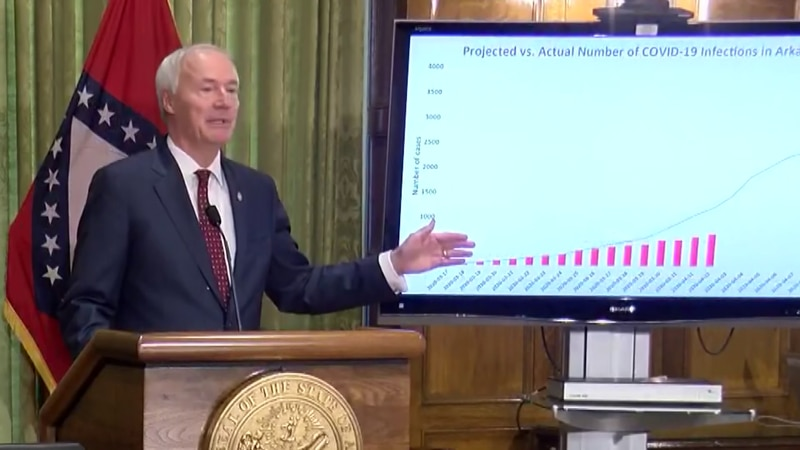 Arkansas governor resists calls for statewide stay-at-home order