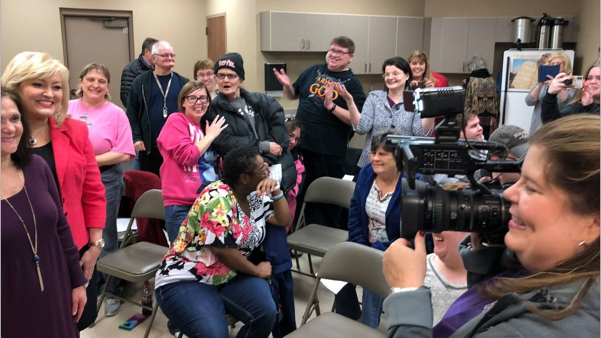 The choir room at Central Baptist Church in Jonesboro is filled with excitement as Pat Qualls...