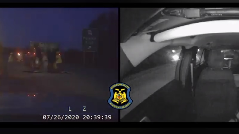Dachcam video of driver hitting MSHP car