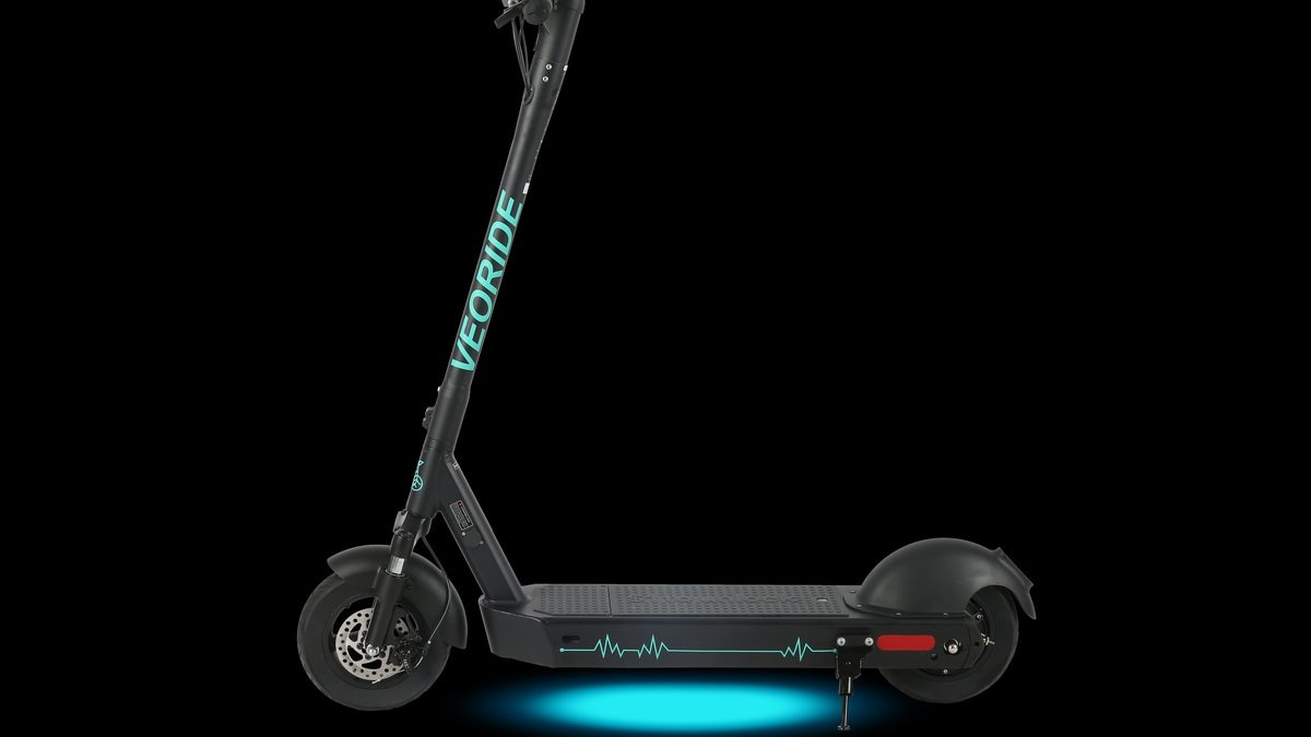 People can use the VeoRide app to rent the scooter by the minute.