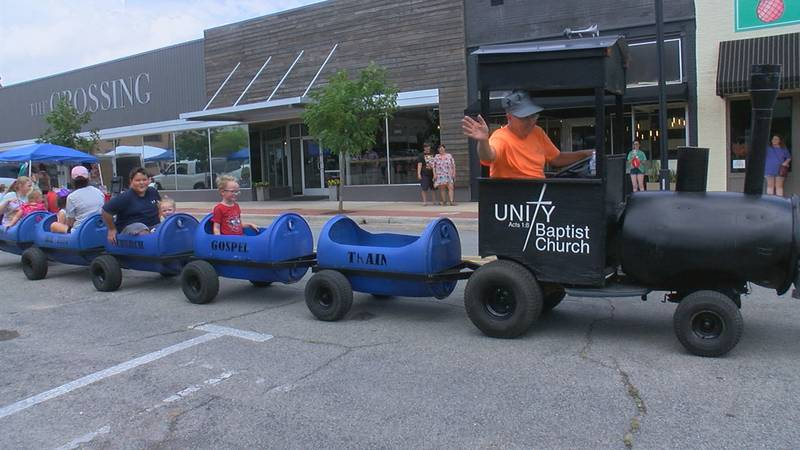 Unity Baptist Church provided a train to give children rides on throughout the day.