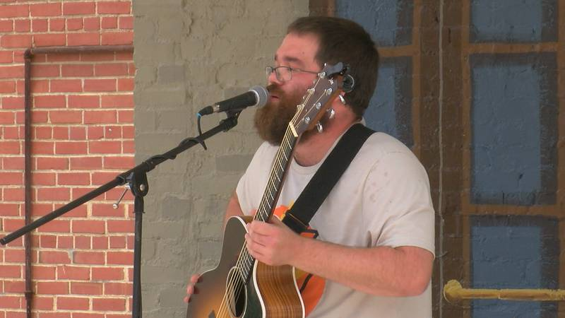 Performers played at six different downtown locations over the weekend.