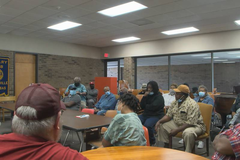 A little over 30 people showed up for a Saturday meeting that centered around community safety...