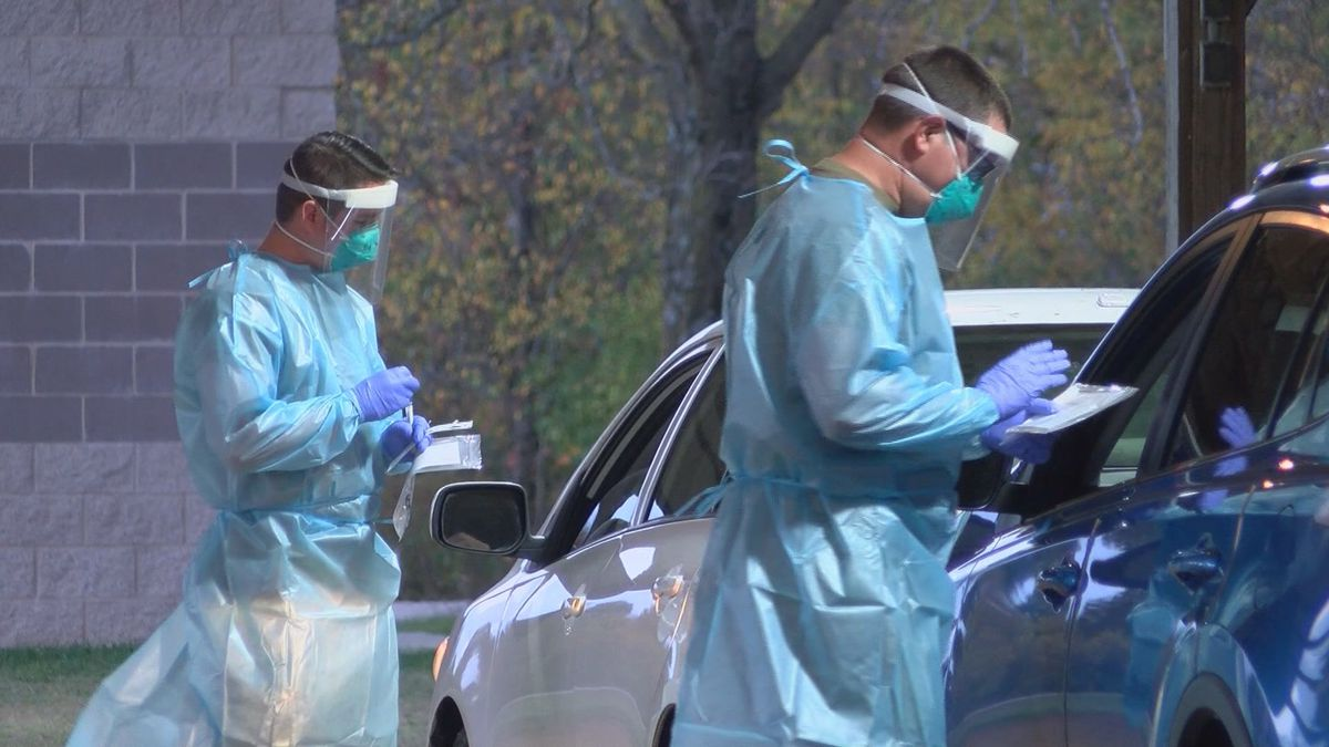 Members of the Missouri National Guard assisted healthcare workers in Cape Girardeau with a...