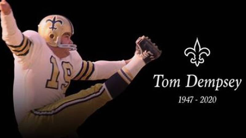 Legendary New Orleans Saints place kicker Tom Dempsey died Saturday night (April 4) after a...