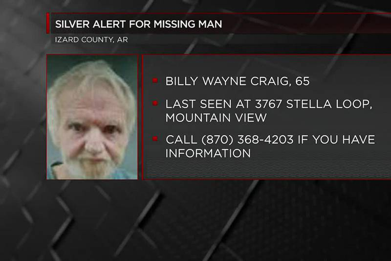 Izard County issues Silver Alert for missing man