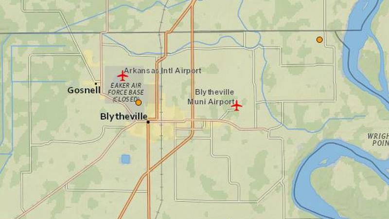 The two small quakes were recorded in Arkansas. (Source: United States Geological Survey)