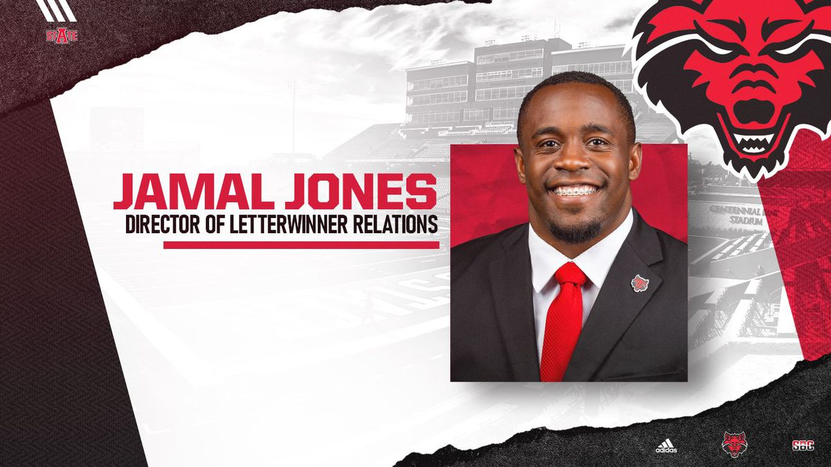Former Arkansas State RB Jamal Jones is joining the Red Wolves athletic department.