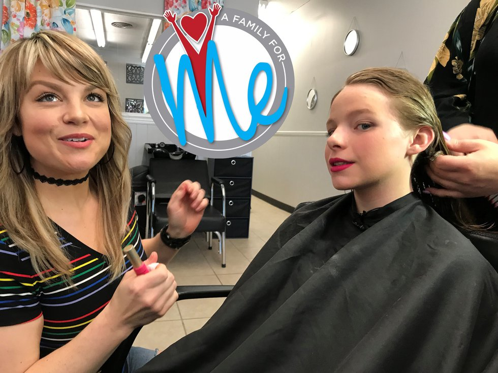 Teenage girls are typically a big fan of getting their hair and make-up done, and 13-year old...