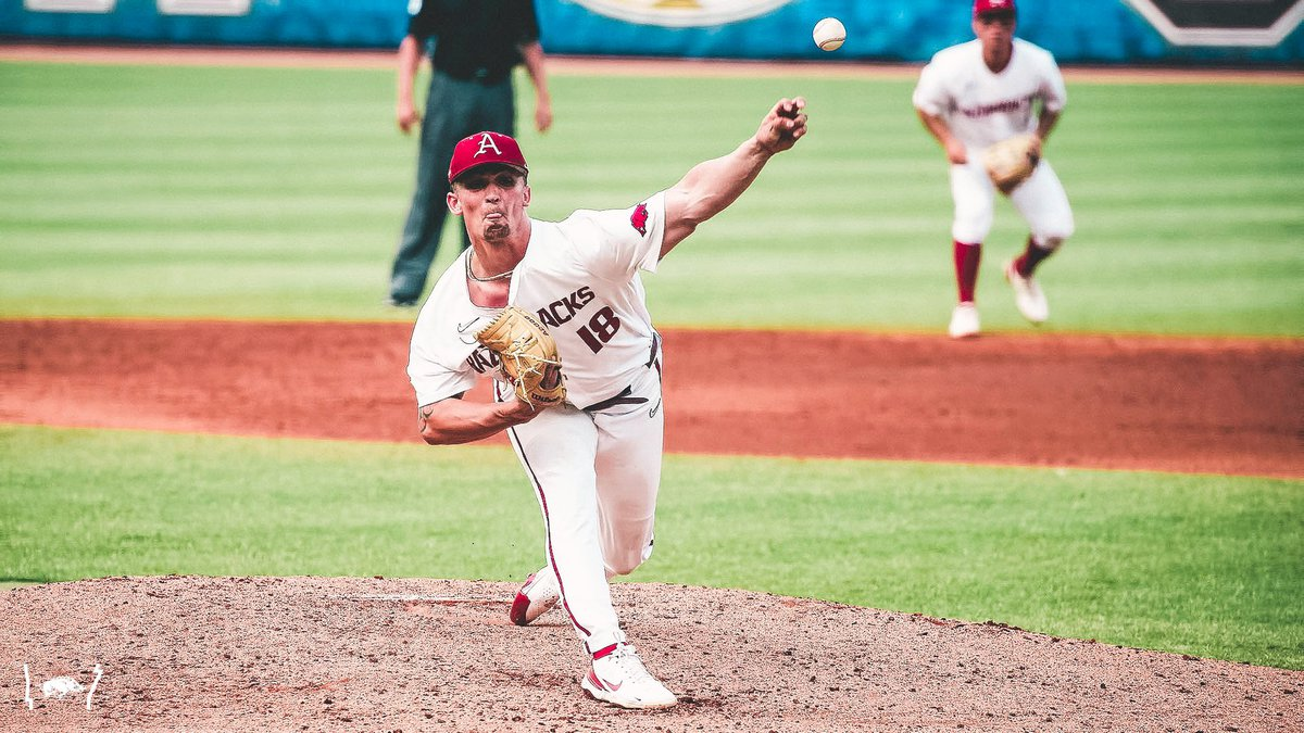 Arkansas pitcher Lael Lockhart flirted with a perfect game Wednesday in the SEC Baseball...