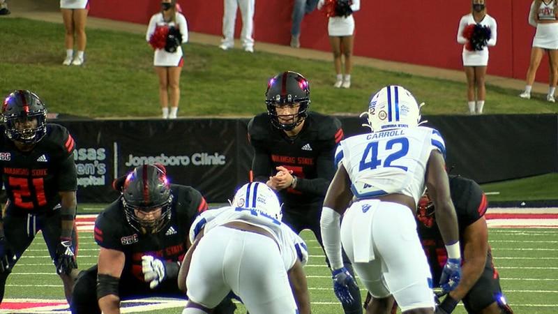 Layne Hatcher had 4 passing touchdowns Thursday night as Arkansas State beat Georgia State 59-52.