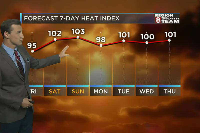 We'll crank up the heat across Region 8 over the next few days.