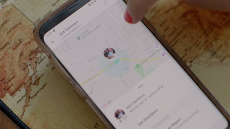 Parents use the app Life360 to track their child's whereabouts in real-time. (Source: Nichole...