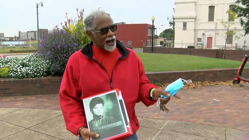 Dr. LaSimba Gray Jr., a founding member of the Memphis Memorial Committee, says journalist and...